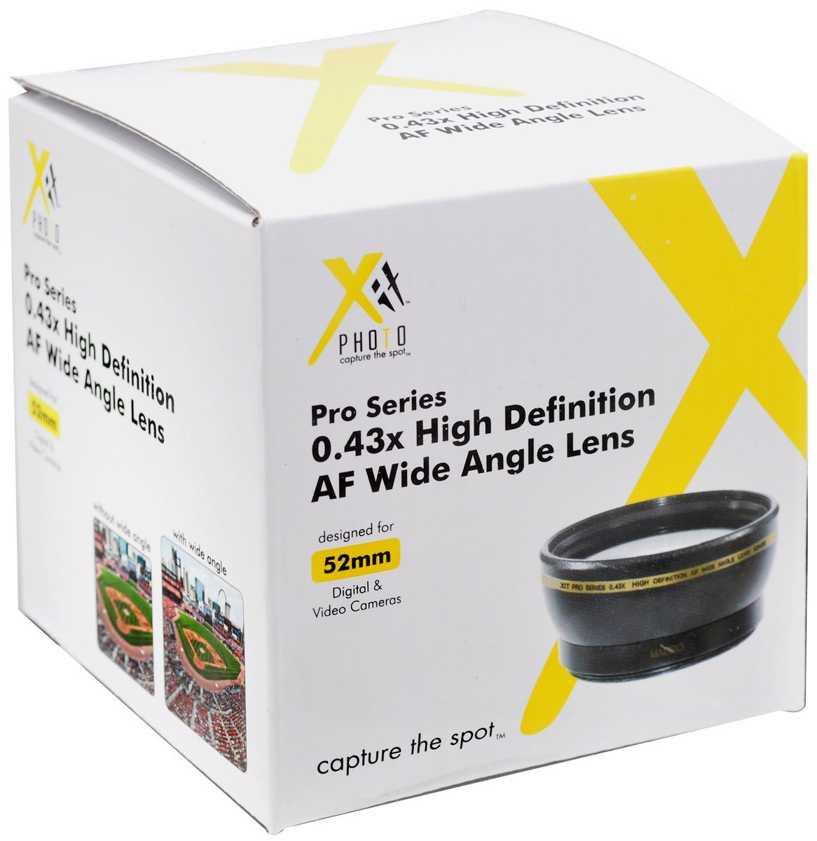 Xit 52mm 043x High Definition Af Wide Angle Lens