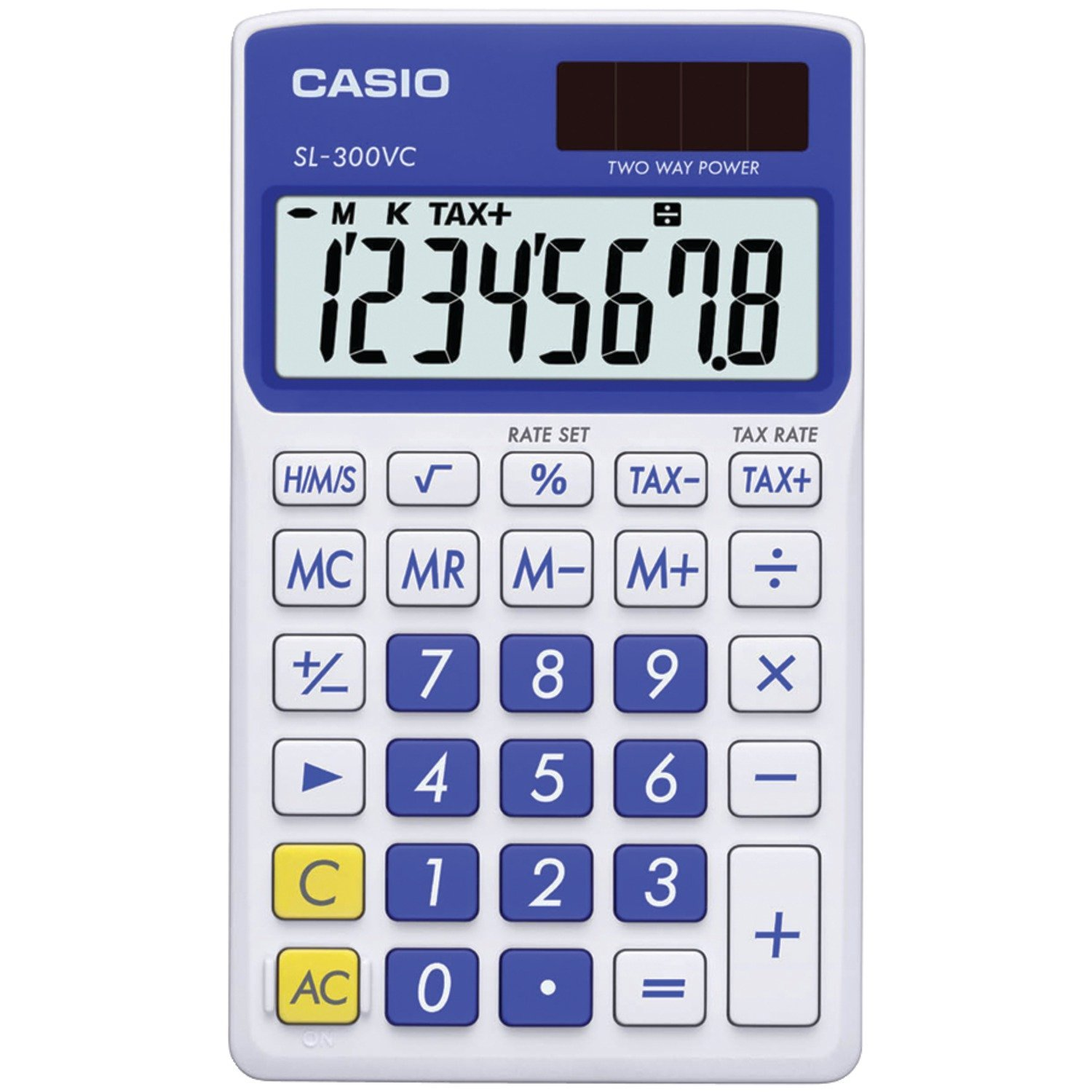 casio sl 300vc standard function calculator blue