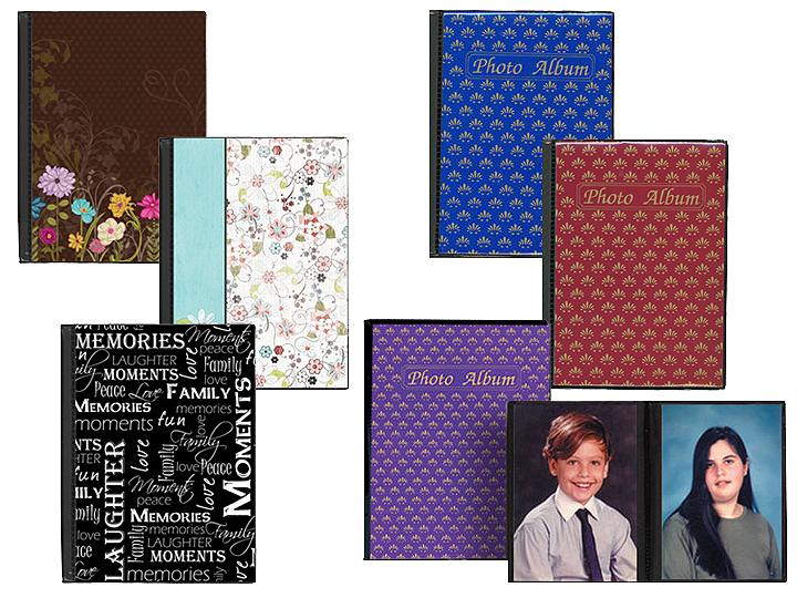 6 Pack Pioneer Hard Cover Photo Album Assorted Covers Holds 36 4x6